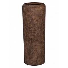 Кашпо Nieuwkoop Polystone alexi aged brown, коричнево-бурого цвета m