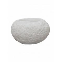 Кашпо Nieuwkoop Polystone rock findling white, белого цвета