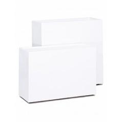 Кашпо Nieuwkoop Premium block white, белого цвета