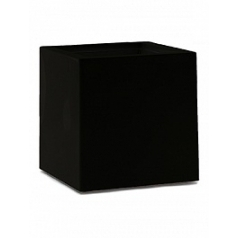 Кашпо Nieuwkoop Premium cubus black, чёрного цвета