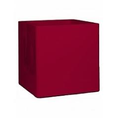 Кашпо Nieuwkoop Premium cubus ruby red, красного цвета