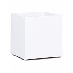 Кашпо Nieuwkoop Premium cubus white, белого цвета