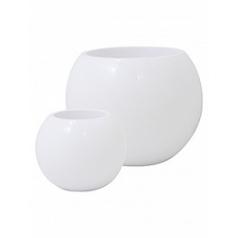 Кашпо Nieuwkoop Premium globe white, белого цвета