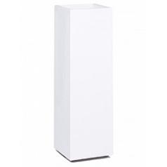 Кашпо Nieuwkoop Premium tower column white, белого цвета