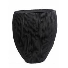 Кашпо Nieuwkoop River vase oval black, чёрного цвета