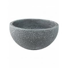 Кашпо Nieuwkoop Sebas (фактура под бетон) bowl grey, серого цвета
