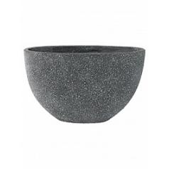 Кашпо Nieuwkoop Sebas (фактура под бетон) oval grey, серого цвета