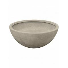 Кашпо Nieuwkoop Static (grc) bowl grey, серого цвета