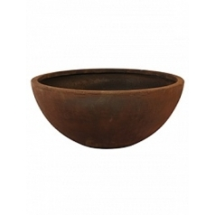 Кашпо Nieuwkoop Static (grc) bowl rusty, ржавая фактура