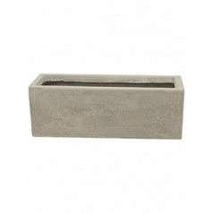 Кашпо Nieuwkoop Static (grc) rectangle grey, серого цвета