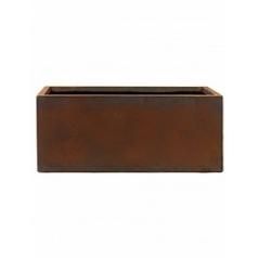Кашпо Nieuwkoop Static (grc) rectangle rusty, ржавая фактура