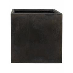 Кашпо Nieuwkoop Static (grc) square black, чёрного цвета