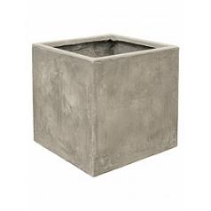Кашпо Nieuwkoop Static (grc) square grey, серого цвета