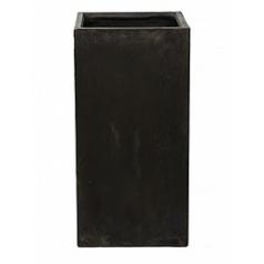 Кашпо Nieuwkoop Static (grc) square high black, чёрного цвета