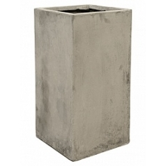 Кашпо Nieuwkoop Static (grc) square high grey, серого цвета