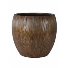 Кашпо Nieuwkoop Twist pot bronze, бронзового цвета
