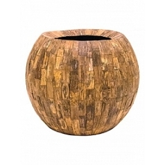Кашпо Nieuwkoop Cemani bowl cemani wood