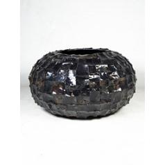 Кашпо Nieuwkoop Radica bowl black, чёрного цвета mother-of-pearl