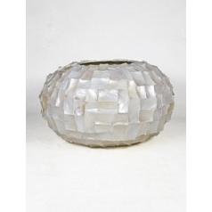 Кашпо Nieuwkoop Radica bowl cream, кремового цвета mother-of pearl