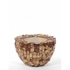 Кашпо Nieuwkoop Tunda bowl coconut shell natural