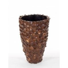 Кашпо Nieuwkoop Tunda partner coconut shell brown, коричнево-бурого цвета