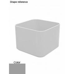 Кашпо Nieuwkoop Multivorm / basic square structure под покраску 9007 grey, серого цвета aluminium
