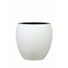 Кашпо Nieuwkoop Jura round white, белого цвета