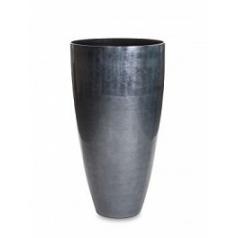 Кашпо Nieuwkoop Senza partner dark под цвет серебра (под цвет серебраleaf)