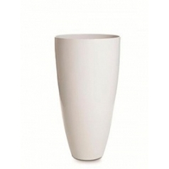Кашпо Nieuwkoop Senza partner white, белого цвета lacquer