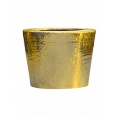 Кашпо Nieuwkoop Hammered aluminium elegant gold, под цвет золота