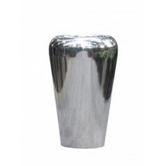 Кашпо Nieuwkoop Polished aluminium conical facet