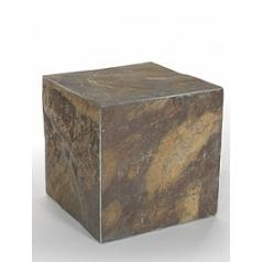 Пьедестал Nieuwkoop Etna flamy pillar grey, серого цвета rusty, ржавая фактура slate blocks