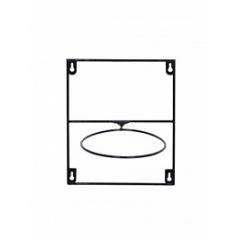 Держатель для Кашпо Artstone amy potrack black, чёрного цвета (1x hole for 17 cm) Длина — 20 см