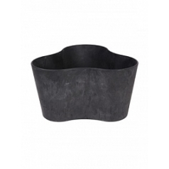Кашпо Artstone clair triangle black, чёрного цвета Длина — 26 см