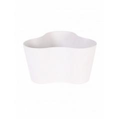 Кашпо Artstone clair triangle white, белого цвета Длина — 26 см