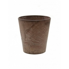 Кашпо Artstone claire pot brown, коричнево-бурого цвета Диаметр — 13 см