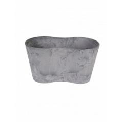 Кашпо Artstone claire pot duo grey, серого цвета Длина — 26 см
