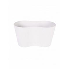 Кашпо Artstone claire pot duo white, белого цвета Длина — 26 см