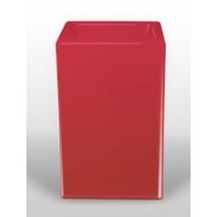 Светящееся Кашпо Bloom! Holland square red, красного цвета Длина — 50 см