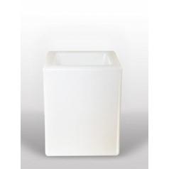 Светящееся Кашпо Bloom! Holland square white, белого цвета Длина — 40 см