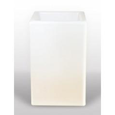 Светящееся Кашпо Bloom! Holland square white, белого цвета Длина — 50 см