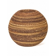 Кашпо Fleur Ami Beach wicker table top planter abaca  Диаметр — 30 см