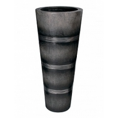 Кашпо Fleur Ami Cosmos black, чёрного цвета/alu  Диаметр — 50 см