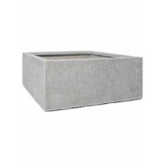 Кашпо Fleur Ami Division plus square natural-фактура под бетон Длина — 100 см