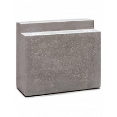 Кашпо Fleur Ami Modulo division square feet natural-фактура под бетон Длина — 275 см