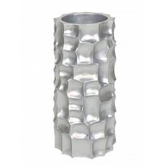 Кашпо Fleur Ami Mosaic column под цвет серебра  Диаметр — 34 см