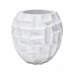 Кашпо Fleur Ami Mosiac bowl glossy white, белого цвета  Диаметр — 30 см