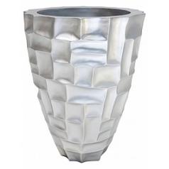 Кашпо Fleur Ami Mosiac planter metallic под цвет серебра  Диаметр — 50 см