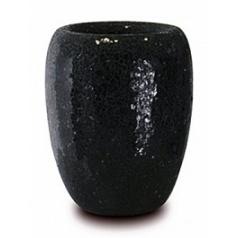 Кашпо Fleur Ami One vase black, чёрного цвета  Диаметр — 23 см