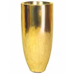 Кашпо Fleur Ami Pandora gold, под цвет золота leaf (single wall)  Диаметр — 35 см